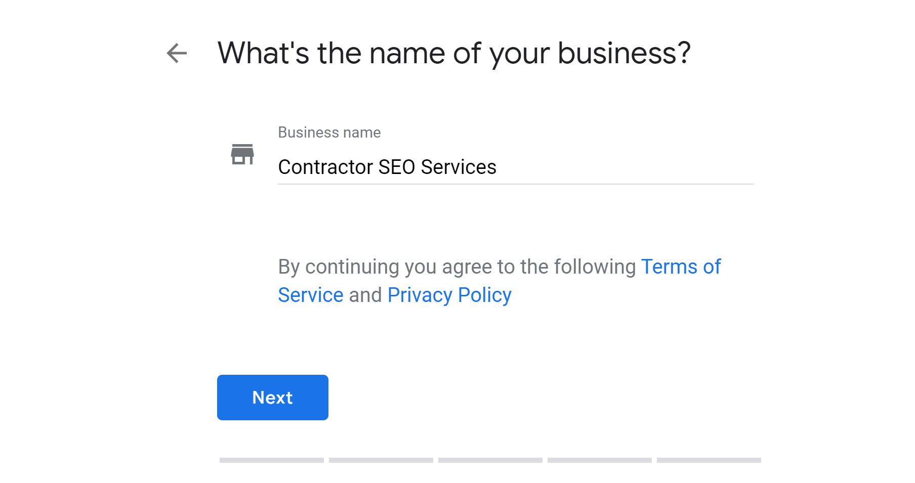 step 3a - verify google my business
