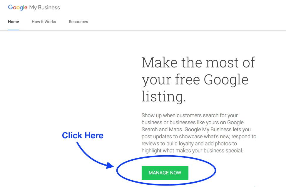 step 2 - verify google my business