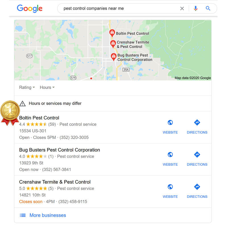Client SEO Results - Boltin Pest Control