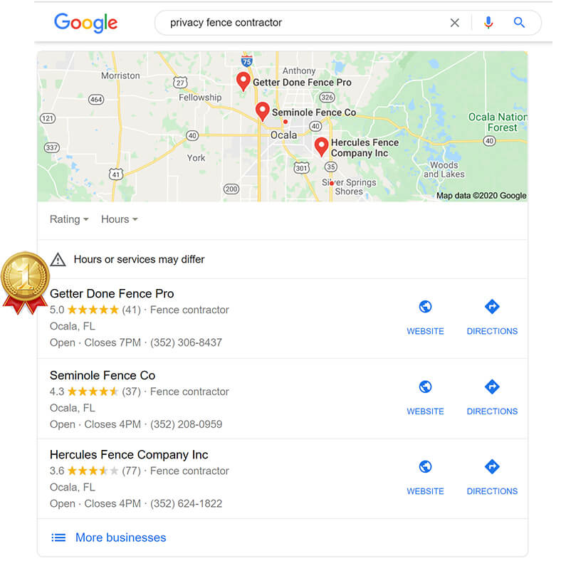 Client SEO Results - Getter Done Fence Pro