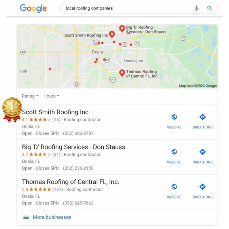 Client SEO Results - Scott Smith Roofing